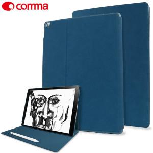 Comma Elegant Series Leather iPad Pro 12.9 2015 Case - Dark Blue