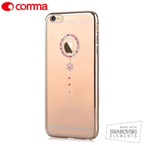 Comma Red Diamond iPhone 6S / 6 Case - Clear / Gold