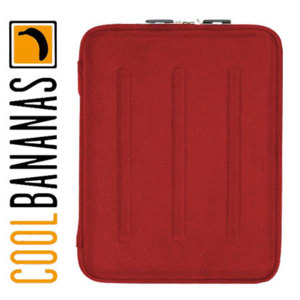Cool Bananas BulletProof Hardcover for iPad 4 / 3 / 2 - Red