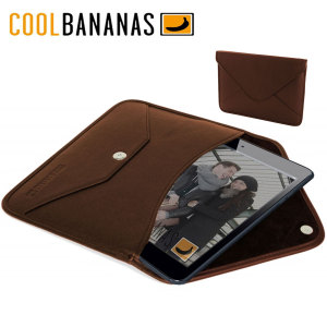 Cool Bananas Leather Envelope V1 iPad Mini 3 / 2 / 1 Case - Brown