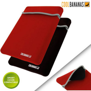 Cool Bananas RainSuit Neoprene Sleeve for iPad 2/3/4 - Black/Red