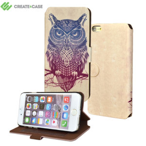 Create and Case iPhone 6S Plus / 6 Plus Book Case - Warrior Owl