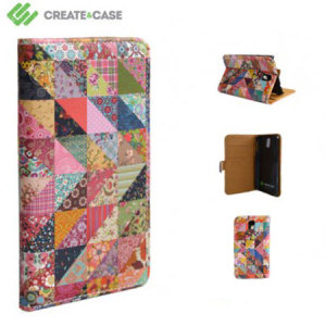 Create And Case Samsung Galaxy Note 3 Book Case - Grandma's Quilt