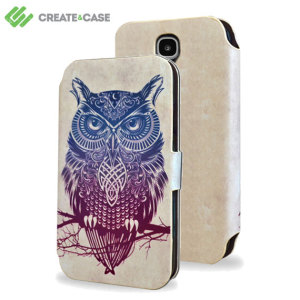 Create And Case Samsung Galaxy S4 Flip Case - Warrior Owl