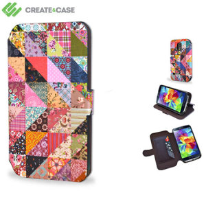 Create and Case Samsung Galaxy S5 Book Case - Grandma's Quilt