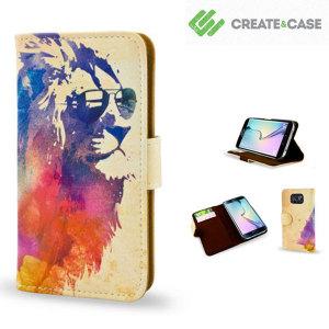 Create and Case Samsung Galaxy S6 Edge Book Case - Sunny Leo