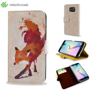 Create and Case Samsung Galaxy S6 Edge Wallet Case - Vulpes