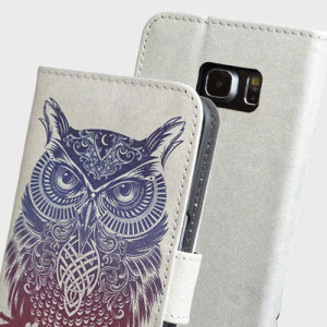 Create and Case Samsung Galaxy S7 Edge Wallet Case - Warrior Owl
