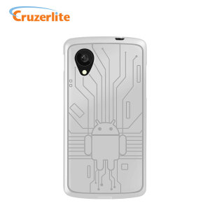 Cruzerlite Bugdroid Circuit Case for Google Nexus 5 - White