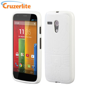 Cruzerlite Bugdroid Circuit Case for Moto G - White