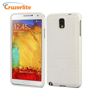 Cruzerlite Bugdroid Circuit Case for Samsung Galaxy Note 3 - White