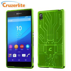 Cruzerlite Bugdroid Circuit Sony Xperia Z3+ Gel Case - Green
