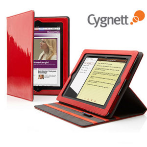 Cygnett Glam Leather Folio Case with Stand for  iPad 3 / iPad 2 - Red