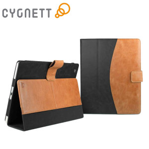 Cygnett Vintage Folio Case for iPad Air - Black / Tan