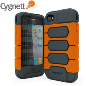 Cygnett Workmate Case - Grey/Orange - iPhone 4