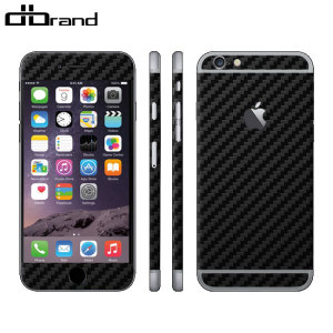 dbrand iPhone 6S Plus / 6 Plus Skin - Black Carbon Fibre