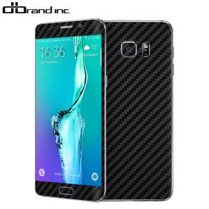 dbrand Samsung Galaxy S6 Edge Plus Carbon Fibre Skin - Black