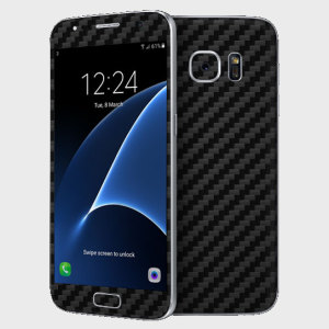 dbrand Samsung Galaxy S7 Carbon Fibre Skin - Black