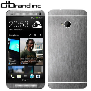 dbrand Textured Front and Back Skin for HTC One M7 - Titanium