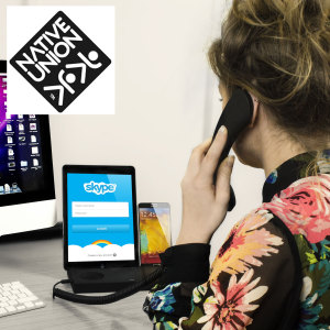 Desk Handset with Stand for Skype, FaceTime and Mobile Calls