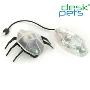 Desk Pets Skitterbot Remote Controlled Bug - Clear