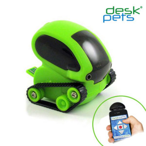 DeskPets TankBot App Controlled Micro Robotic Tank - Green