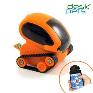DeskPets TankBot App Controlled Micro Robotic Tank - Orange