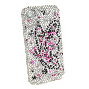 Diamante Back Cover For Iphone 4 Butterfly