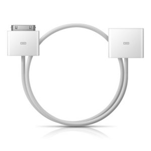 Dock Extender Cable for iPhone, iPad, and iPod - White