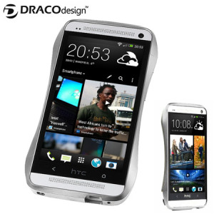 Draco Design Aluminium Bumper for HTC One M7 - Astro Silver