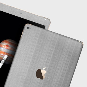 Easyskinz iPad Pro 9.7 inch Premium Brushed Steel Skin - Black