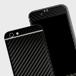 Easyskinz iPhone 6S / 6 3D Textured Carbon Fibre Skin - Black