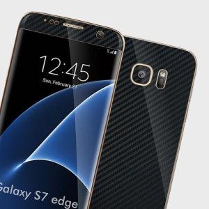 Easyskinz Samsung Galaxy S7 Edge Carbon Fibre Skin - Black