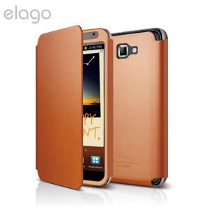 Elago G4 Handmade Leather Flip Case - EL-G4LE-FOL