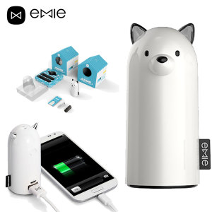Emie Samo Dog 5,200mAh Power Bank - White