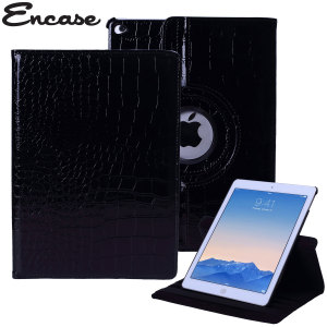 Encase Alligator Pattern Rotating iPad Air 2 Case - Black