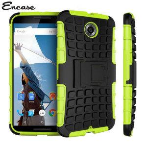 Encase ArmourDillo Hybrid Google Nexus 6 Protective Case - Green