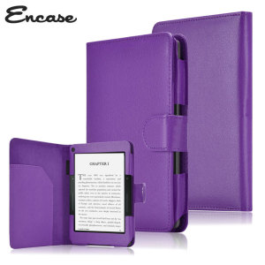 Encase Leather-Style Amazon Kindle Voyage Folio Case - Purple