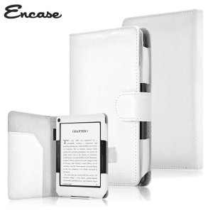 Encase Leather-Style Amazon Kindle Voyage Folio Case - White