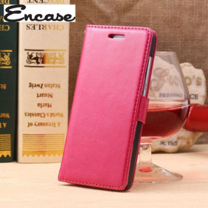 Encase Leather Style EE Kestrel Wallet Case - Pink