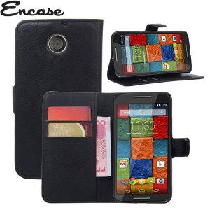 Encase Leather-Style Motorola Moto X 2nd Gen Wallet Case - Black