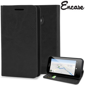 Encase Leather-Style Nokia Lumia 630 / 635 Wallet Case - Black
