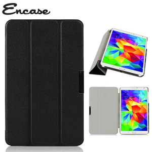Encase Leather-Style Samsung Galaxy Tab S 8.4 Folio Stand Case - Black