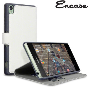 Encase Leather-Style Slim Sony Xperia Z3 Wallet Case - White