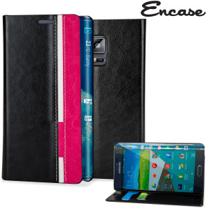 Encase Samsung Galaxy Note Edge Color Wallet Case - Black