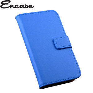Encase Stand and Type Wiko Bloom Wallet Case - Blue