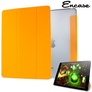 Encase Transparent Shell iPad Air 2 Folding Stand Case - Orange