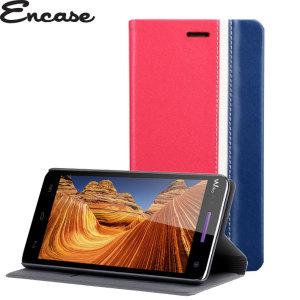 Encase Wiko Rainbow Wallet Case - Red / Blue