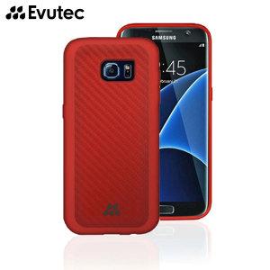 Evutec Samsung Galaxy S7 Edge Karbon SI LITE Case - Red