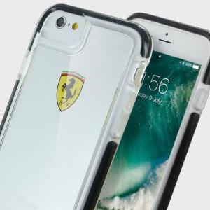 Ferrari Scuderia Shockproof IPhone 6S / 6 Hard Case - Clear / Black